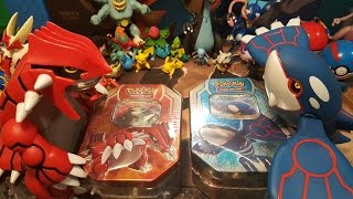 Kyogre VS. Groudon Tin Battle and Review!!!