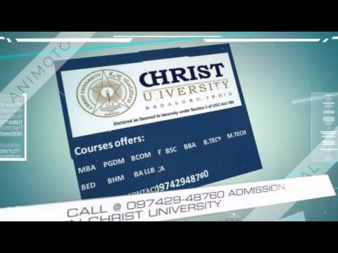 09742948760 ADMISSION IN CHRIST UNIVERSITY 480p