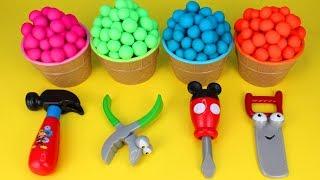 Play Doh Surprise Toys Mickey Mouse Tools PJ Masks Mashems Om Nom Surprise Egg Minion Surprise Toys