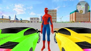 Superheroes Valet Car Parking Mania (HeroSpider Parking) Android GamePlay FHD - Kids Colorful Cars