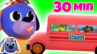 Wheels On The Bus Go Round And Round | Nursery Rhymes | Songs for Children | Raggs TV