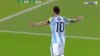 اهداف مباراة الارجنتين وتشيلي 1 - 0 HD شاشه كامله تعليق علي محمد علي تصفيات كأس العالم 2018