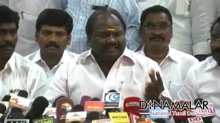 DMDK party not under Vijayakanth's control says Chandrakumar - Dinamalar Apr 6th 2016