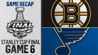 Bruins force Game 7 with 5-1 win against Blues
