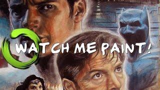 Batman v Superman: Dawn of Justice - Fan Art Movie Poster SPEED PAINTING