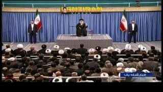 Aaytollah Khamenei defend judiciary during meeting with people of Qum