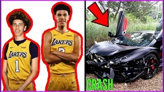 How LaMelo Ball just RUINED HIS LIFE AND CAREER!! LaMelo crashes LAMBO!!