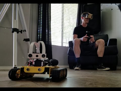 Google Cardboard Xbox 360 controlled Raspberry Pi VR Robot Tank