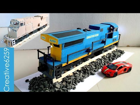 Xxx Mp4 How To Make A Train With Cardboard Most Powerful American RC Train Engine GE AC6000CW 3gp Sex