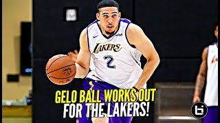 LiAngelo Ball WORKS OUT FOR LAKERS!! + Gelo's Evolution & Growth Over The Years!!