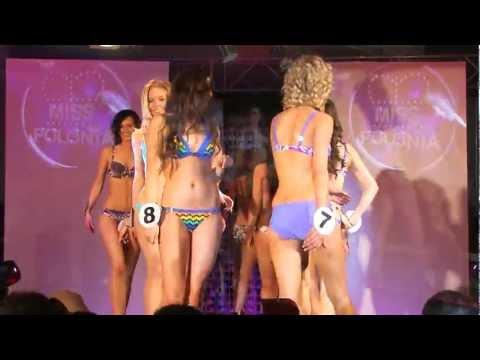 Miss Polonia Podbeskidzia 2012 wyjście w strojach kąpielowych