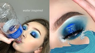 water inspired eyeshadow tutorial (4 elements collab)