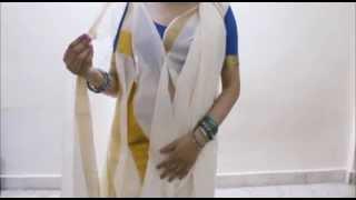 Innovative Bengali Saree Draping:Learn How to Wear Bangla Sari(2015)Durga Puja Special