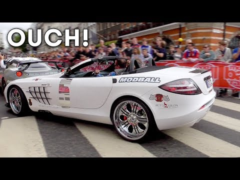 SLR CRASHES into Lotus during 2017 Modball Rally