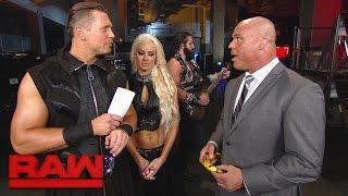 Elias Samson strums his guitar past Raw General Manager Kurt Angle: Raw, April 24, 2017