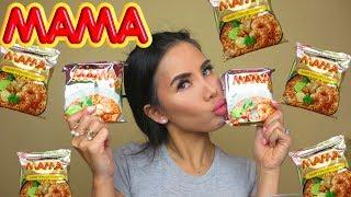 Tom Yam Instant Ramen Mama Mukbang | Eating Show | Eat with Me | English Mukbang | Thai Ramen