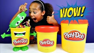 Giant Play Doh Blind Bag Bins - Kinder Surprise - Slime - Ooshies - Candy - Barbie Toys