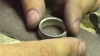 Dutch Coin Ring out of Silver Gulden - Making Process
