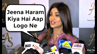 Shilpa Shetty  Angry On Media For Harassing Her