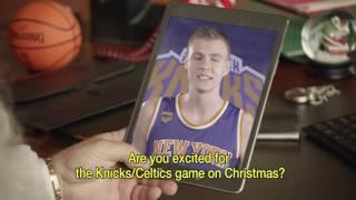 Porzingis runā latviski NBA Ziemassvētku reklāmā