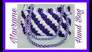 Easy Tutorial Of Macrame Hand Bag {Design No.2} in Hindi, Easy Making Method.