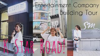 [VLOG] K STAR ROAD TOUR! JYP, Cube, SM Ent. buildings! 😍🤩