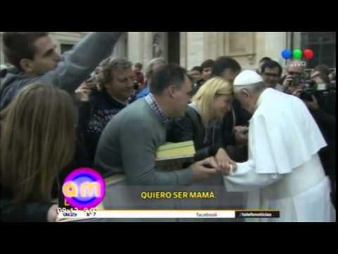 Entre lágrimas Eugenia Tobal le hizo un pedido al papa