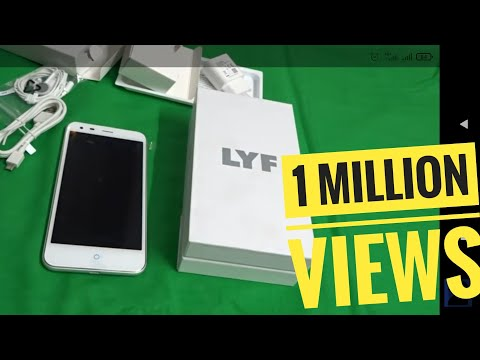 1st on net Reliance Jio 4G LYF LS-5503 WATER 3 Android Mobile Unboxing video