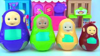 TELETUBBIES Nesting Dolls, Stacking Cups Learn Color Toy Surprise, TinkyWinky, Lala Dipsy, Po / TUYC