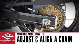 How To Adjust and Align a Motorcycle Chain