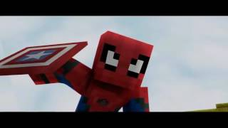 Homem-aranha de volta ao lar trailer de Minecraft dublado