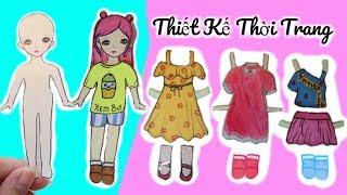 Paper Doll Clothing Design _ Búp Bê Giấy Kem Bơ Đi Uống Trà Sữa