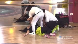 غادة الجريدي في وعكة صحية في صف الرياضة - ستار اكاديمي 10 - Marcelino Ghada Jreidi