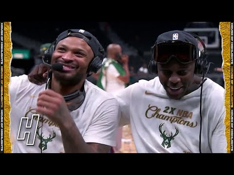 PJ Tucker & Jrue Holiday Join GameTime Postgame Interview Game 6 2021 NBA Finals