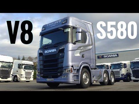 2017 New SCANIA S580 V8 Truck Full Tour & Test Drive Stavros969 4K
