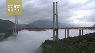 Time-lapse: World's highest bridge to open in China
