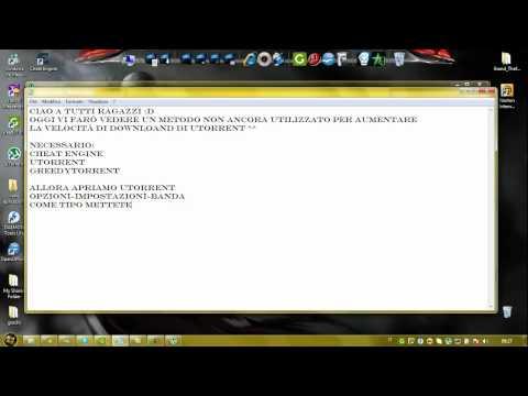 nuovo metodo x aumentare la velocità di download di utorrent