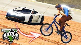 GTA V Online: BMX vs SUPER CARROS - A FAMOSA ÁGUA DE SALSICHA!!