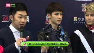 160409 Top Chinese Music Award Red Carpet NCT-U CUT