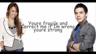 Miley Cyrus and David Archuleta - I wanna know you with lyrics