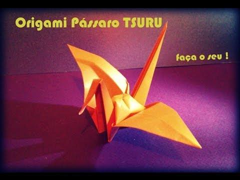 Como fazer um Pássaro de Origami O Pássaro TSURU da Prosperidade Papiroflexia