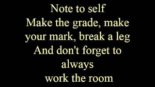 Note to self - lyrics