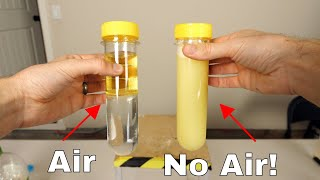 Amazing Way to Actually Mix Oil and Water with No Other Added Ingredient!