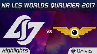 CLG vs  FLY Highlights Game 1 NA LCS Worlds Qualifier 2017 Counter Logic Gaming vs FlyQuest by Onivi