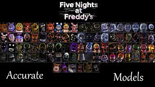 Most Accurate FNaF SFM Models 2018 (Outdated, Watch 2019 Ver.)