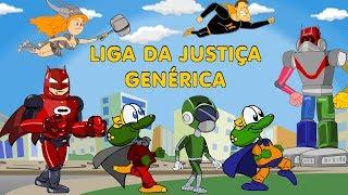 A Liga da Justiça Genérica: Desenho animado brasileiro dublado em português com super heróis