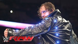 Dean Ambrose destroys Chris Jericho's jacket: Raw, May 9, 2016