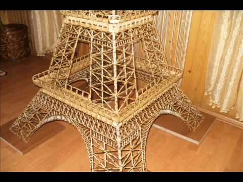 The Eiffel Tower made from Matchsticks Ajfelov Toranj