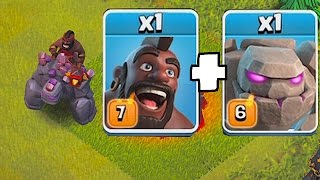 IF HOG RIDER UPGRAGES TO LVL 8 XD🔸GOLEM RIDER TROLL!!🔸Clash Of Clans 😀🔸