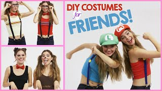 DIY Halloween Costumes to Wear with Friends!  w/ Nina and Randa